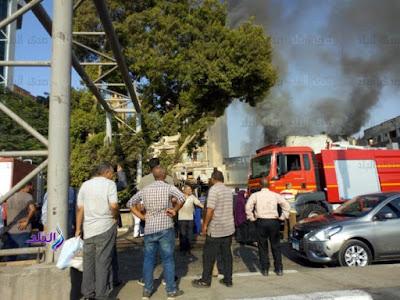 حريق وكالة البلح,