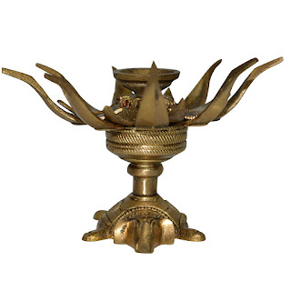 DronaCraft Spiritual Decor Brass Candle Holder