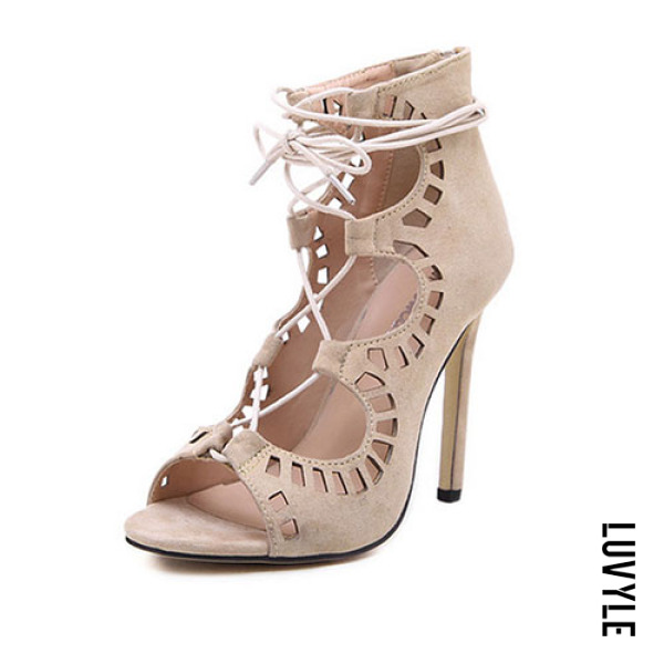 Apricot High heeled Stiletto Suede Sexy Point Toe Heels