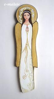Biały Anioł z serduszkiem… Pamiątka Chrztu Świętego, Pierwszej Komunii św., prezent na Ślub, urodziny …