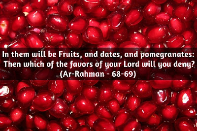 Ramadan Mubarak To The Muslims: in them will be fruits, and dates,