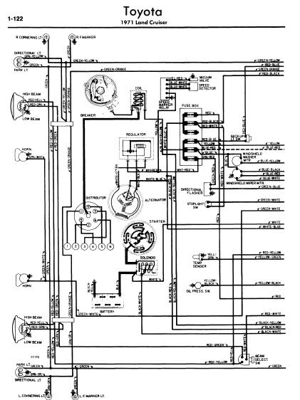 toyota land cruiser 1971 wiring diagrams | online manual ... 1978 toyota land cruiser wiring diagram