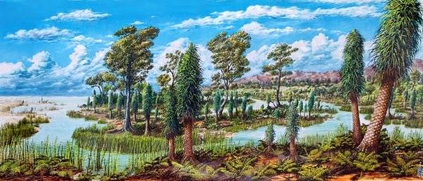 Período Carbonífero (350 Milhões de anos)