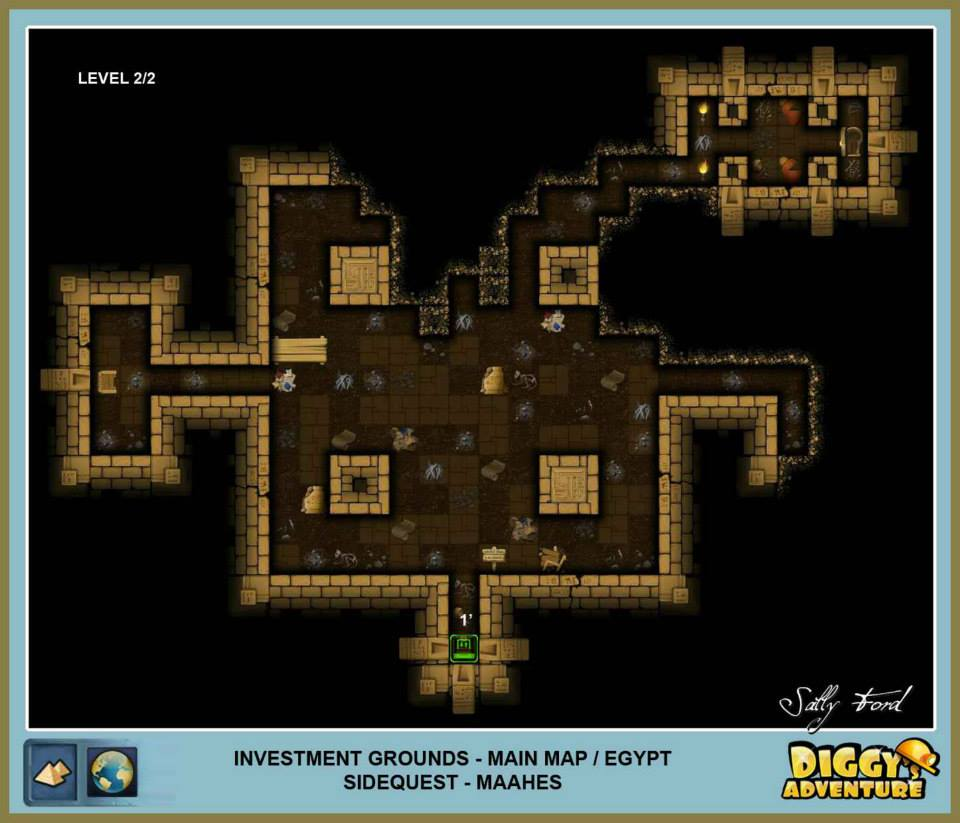 Diggy's Adventure Walkthrough: Egypt Main / Investment Grounds Level 1