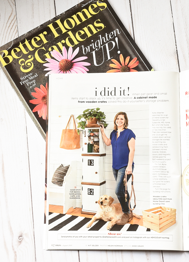 Little House of Four featured in Better Homes and Gardens I DiD it!
