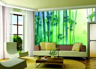 Contoh Wallpaper Dinding Untuk Mempercantik Ruang Tamu Yang Sempit
