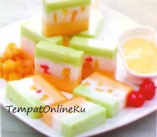 puding cake susu buah