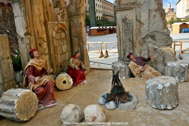 Presépio na praça de Nossa Senhora do Pilar, Zaragoza