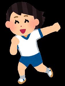体育でダンスを踊る生徒のイラスト (女の子)