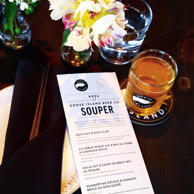 #GooseIsland: Souper à Montréal VIP au Kozu
