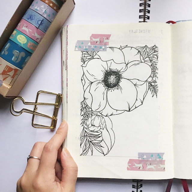 Leuchtturm bullet journal floral layout