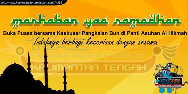 Contoh Banner Buka Bersama Bulan Ramadhan Contoh Banner
