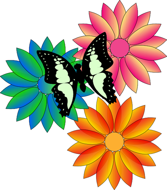 free clipart. line drawings of flowers - photo #45