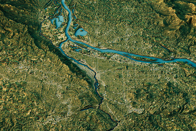 Climate determines shapes of river basins