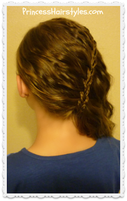 Waterfall scissor braid using micro braids