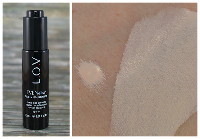 L.O.V EVENelixir serum Foundation 020 fair dream Swatch