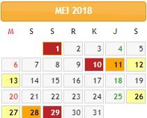 Bulan  Mei 2018 sepertinya bulan paling banyak libur.