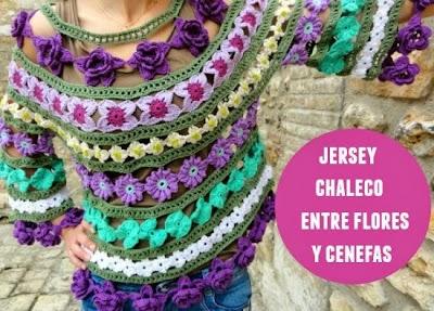 Jersey gipsy bohemio de flores y cenefas