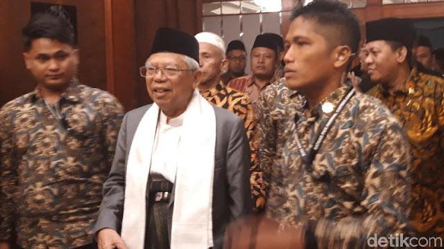KH Ma'ruf Amin Bertemu Kiai Pengasuh Pesantren se-Jatim di Surabaya, Ini yang Dibahas