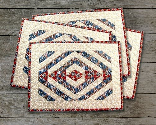 teepee trails quilted placemats pattern
