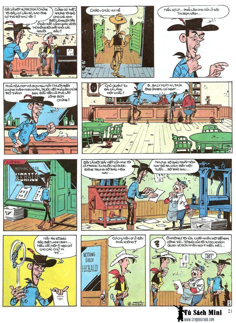Lucky Luke tap 16 - jesse james hiep si rung xanh trang 23