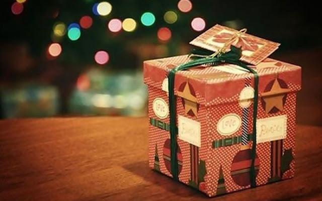 Troca de presentes no natal