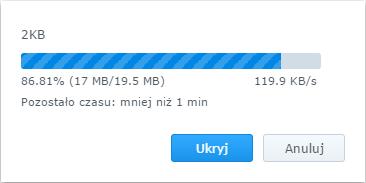 Kopiowanie dziesięciu tysięcy dwukilobajtowych plików do zewnętrznego dysku przez port USB 3.0
