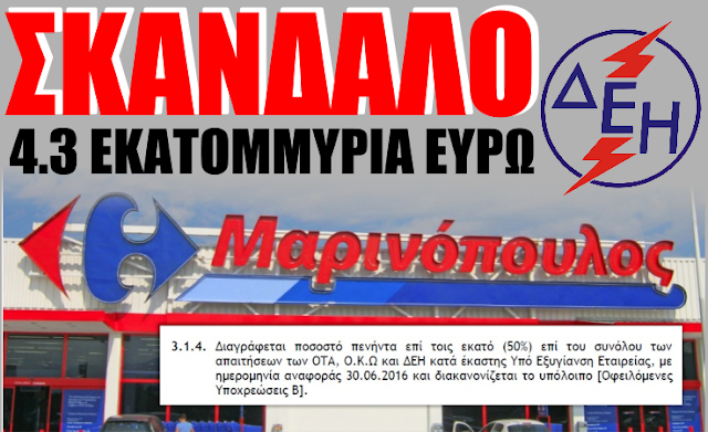 Αποτέλεσμα εικόνας για «Μαρινόπουλος Α.Ε.» προς τη ΔΕΗ