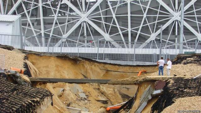 У Волгограді побудований до ЧС-2018 стадіон сповз в яр