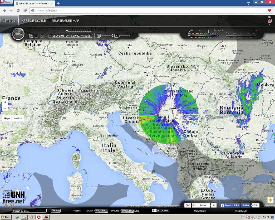 anomalies m t o radar vues sur la croatie deux jours avant la foudre apocalyptique de l 39 europe. Black Bedroom Furniture Sets. Home Design Ideas