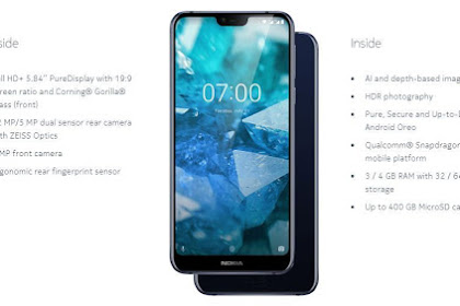 Spesifikasi Nokia 7.1, Smartphone keren harga 7 Jutaan