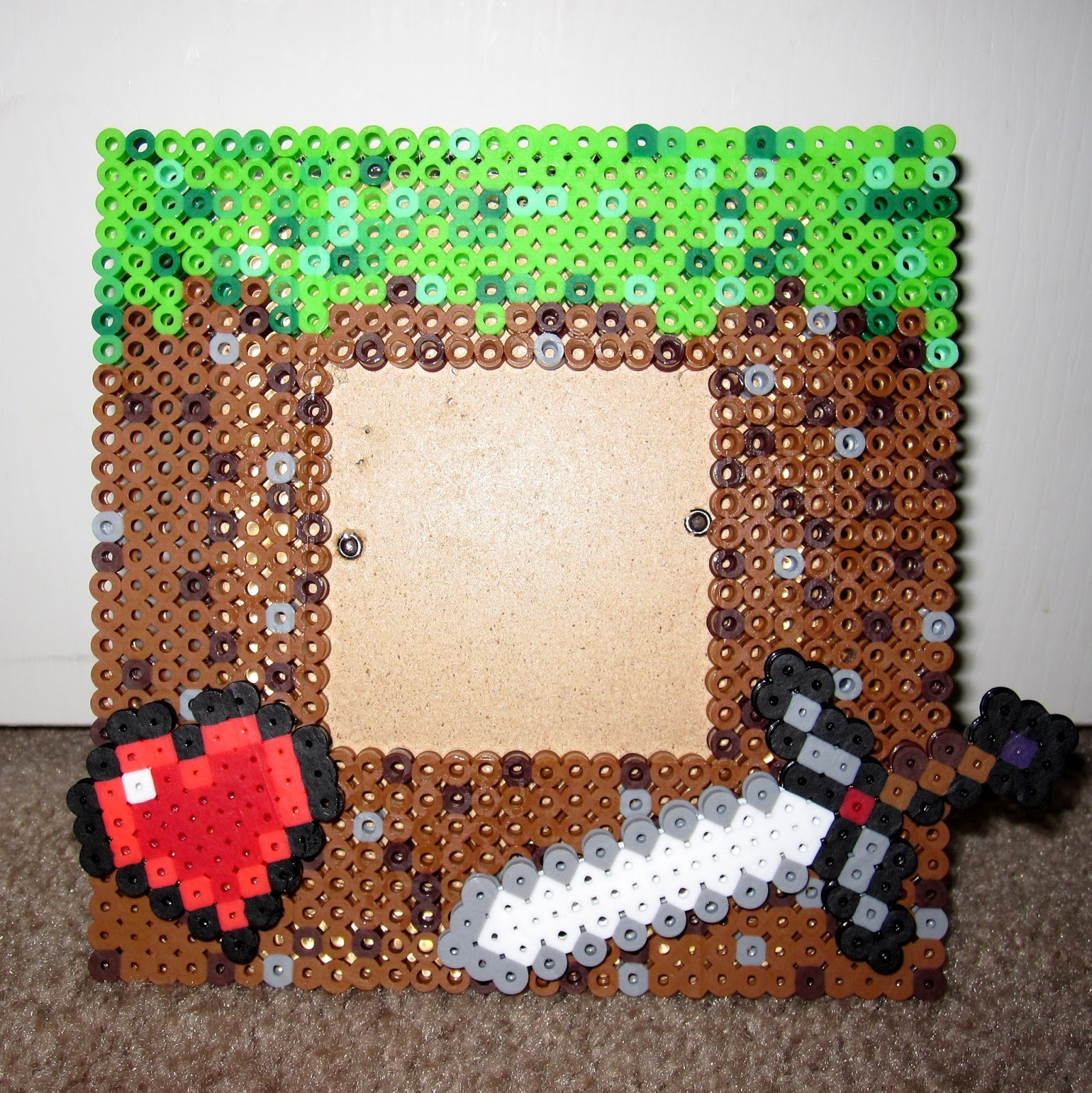 dramatis personae minecraft perler bead frame. Black Bedroom Furniture Sets. Home Design Ideas