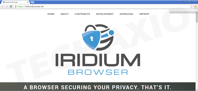 Iridium Browser Screenshot