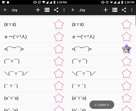 the Kaomoji - Japanese Emotion app