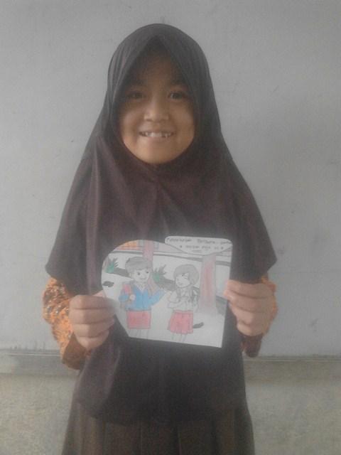 Gambar Ke Sekolah Bersama Sama Oleh Hafifah Puja Munawaroh Kelas Pak Pris