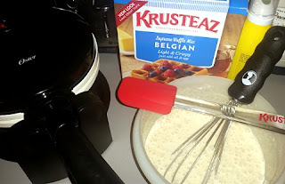 belgian waffle mix and maker