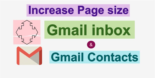 Gmail Page size increase to read more messages