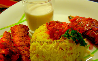 Khichdi & Coconut Milk with Fish Curry