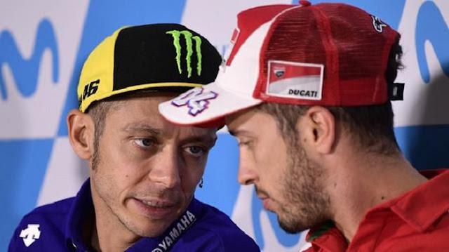 Valentino Rossi Berikan Nasihat kepada Andrea Dovizioso