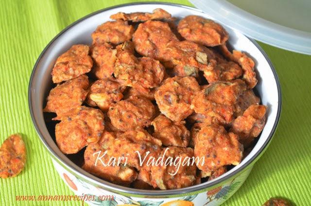 Vengaya Kari Vadagam / Small onion