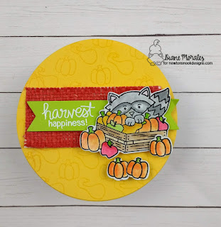 Happy Fall a card by Diane Morales| Harvest Tails Stamp Set by Newton's Nook Designs