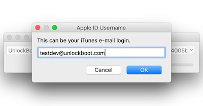 Login with your Apple ID and password