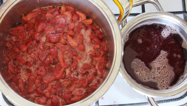 dżem truskawkowy z pektyną, sok truskawkowy