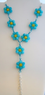 Blue romance (jade, sterling silver) necklace :: All Pretty Things