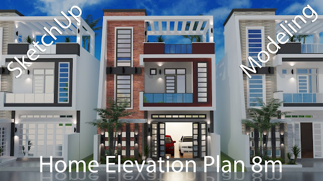 Elevation Modern House Plan Xm With Bedrooms SaM ArchitecT - Home elevation