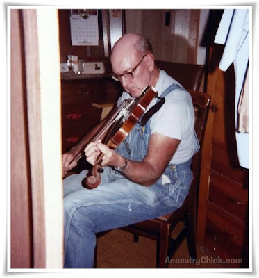 Grandpa Leonard Testorff and His Fiddle