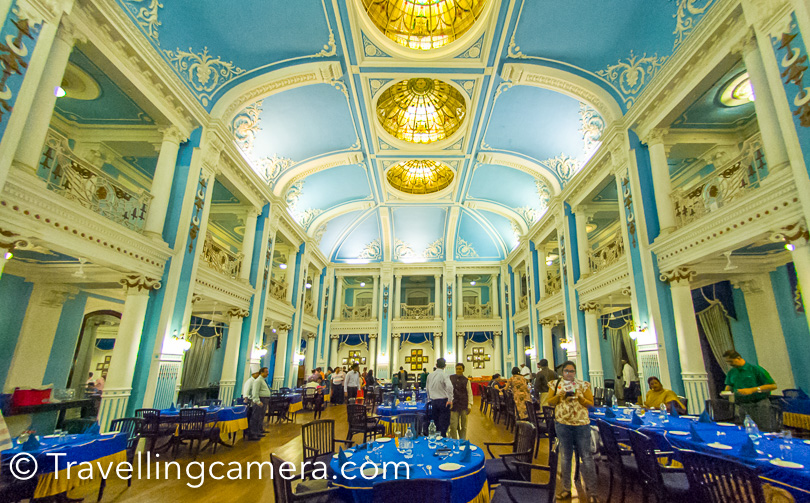 Here is the grand ballroom of Lalitha Palace, which is now restaurant on the ground floor. This was the place where we had our dinner and then headed back to the Golden Chariot.