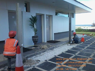 proses pemasangan kolom beton precast