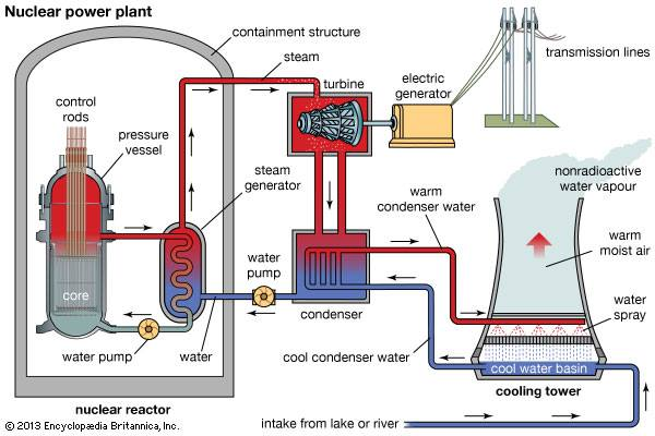 Mechanical Engineering: Nuclear Power Plant flow diagram
