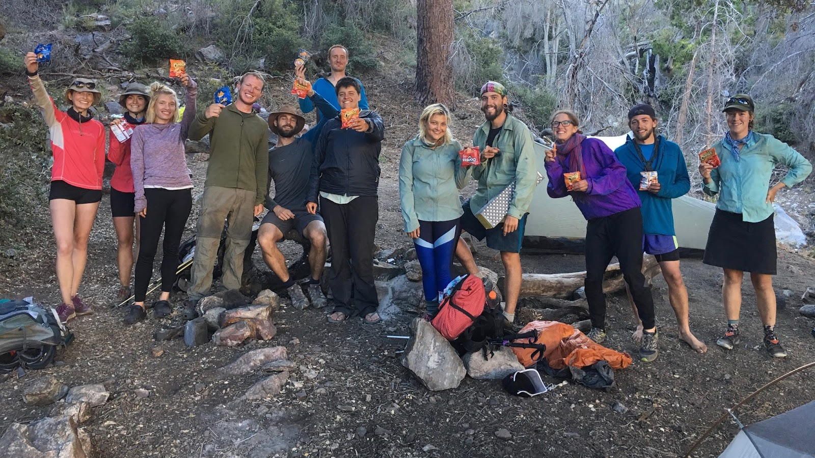We Were ALL Out Early This Morning Beating Our Goal Of A 6am Start Time By Ten Minutes Today Will Be Hiking All Day Through The Lake Fire Closure From
